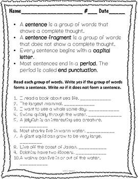Wonders Grammar Unit 1