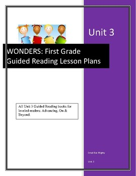 Wonders Guided Reading Lesson Plans for Unit 3