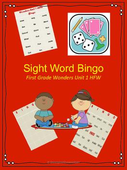 Wonders HFW Unit 1 Bingo