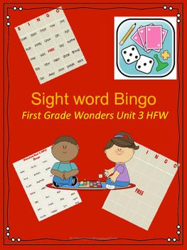 Wonders HFW Unit 3 Bingo
