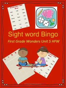 Wonders HFW Unit 5 Bingo