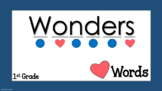 Heart Words for First Grade Wonders Editable
