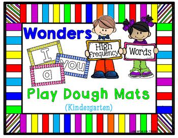 Wonders High Frequency/Sight  Word Play Dough Mats for  Kindergarten