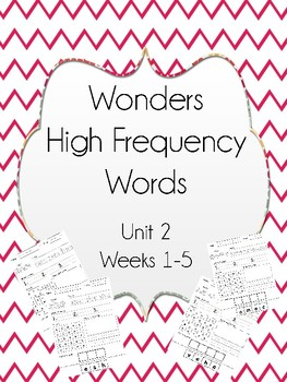 Wonders High Frequency Sight Word Worksheets Unit 2 First Grade