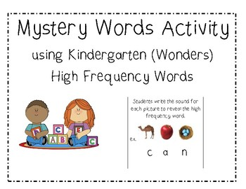 Wonders High Frequency Word Activity - Mystery Words