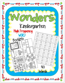 Wonders High Frequency Word Booklets/ Kindergarten