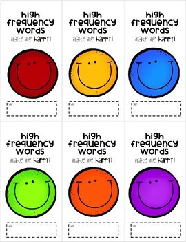 Wonders High Frequency Word Checklist 2nd Grade