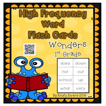 Wonders High Frequency Word Flash Cards-First Grade