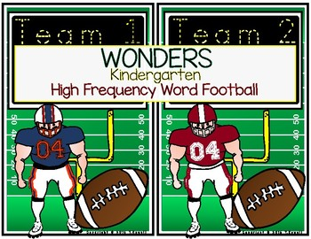 Wonders High Frequency Word Football Game for Kindergarten