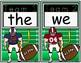 Wonders High Frequency Word Football Game for Kindergarten