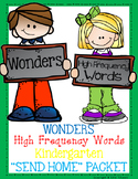Wonders High Frequency Word Parent Flash Card Packet / Kindergarten
