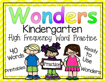 Wonders High Frequency Word Practice Printables KINDERGARTEN