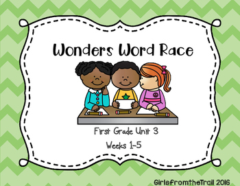 Wonders High Frequency Word Race Unit 3