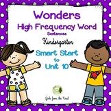 Wonders High Frequency Word Sentences for Kindergarten