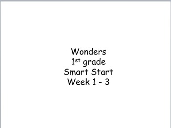 Wonders High Frequency Words (Smart Start - Unit 3)