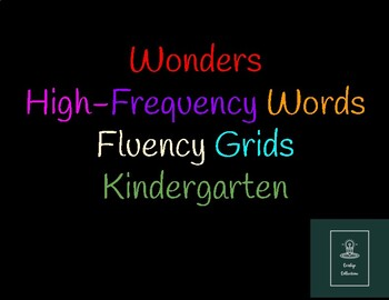 Wonders High-Frequency Words Fluency Grids