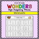 Wonders Sight Words - Second Grade High Frequency Word List