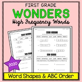 Wonders Sight Words: Word Shapes & ABC Order - First Grade High Frequency Words