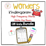Wonders High Frequency Words Write the Room - All Units