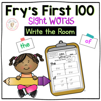 Fry's First 100 Sight Words Write the Room