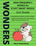 Wonders High Frequency Words for Start Smart Weeks