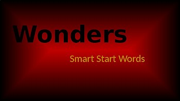 Wonders High Frequency Words slide show with no pictures