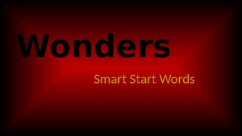 Wonders High Frequency Words slide show with pictures and animations