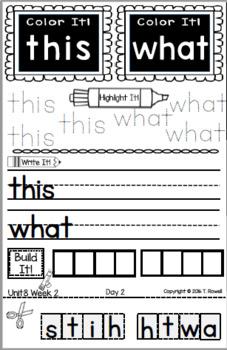 Wonders Interactive Notebook  Daily Activities KINDERGARTEN