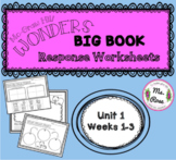 Wonders KG Big Book Worksheets UNIT 1