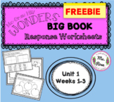 Wonders KG Big Book Worksheets UNIT 1--PREVIEW