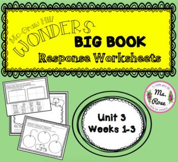 Wonders KG Big Book Worksheets UNIT 3