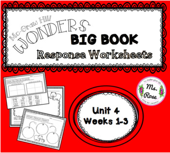 Wonders KG Big Book Worksheets UNIT 4