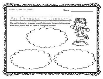 Wonders KG Big Book Worksheets UNIT 5