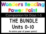Wonders Kindergarten BUNDLE Units 0-10 Power Points