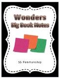 Wonders Big Book Notes