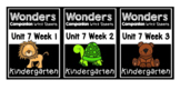 Wonders Kindergarten Centers/Worksheets BUNDLE Unit 7 Weeks 1-3
