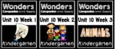 Wonders Kindergarten Centers/Worksheets Unit 10 Weeks 1-3 BUNDLE