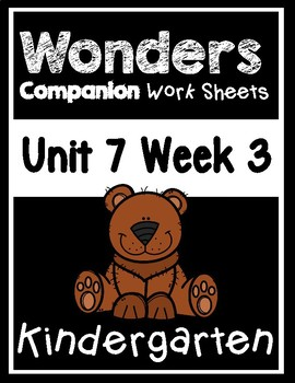 Wonders Kindergarten Centers/Worksheets Unit 7 Week 3 Bear Snores On