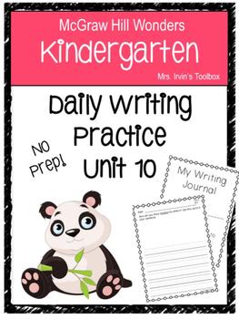 Wonders Kindergarten Daily Writing Unit 10