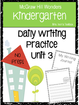 Wonders Kindergarten Daily Writing Unit 3 McGraw Hill