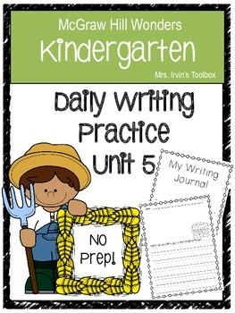 Wonders Kindergarten Daily Writing Unit 5 McGraw Hill