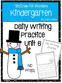 Wonders Kindergarten Daily Writing Unit 6 McGraw Hill