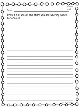 Wonders Kindergarten Daily Writing Unit 9 McGraw Hill
