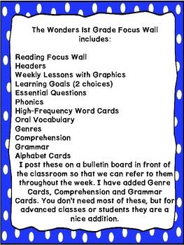 Wonders Kindergarten Focus Wall