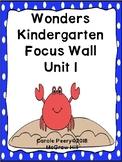 Wonders Kindergarten Focus Wall Unit 1 includes Start Smart