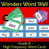 Wonders Word Wall Kindergarten Grade Sight Words Units 1 to 10