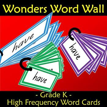 Wonders Word Wall Kindergarten Grade Sight Words Units 1 to 10