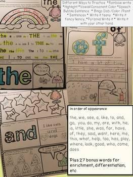Word Work: Weekly Practice, Fluency Lists, Progress Chart, Assessment & More!