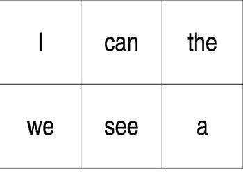 Wonders Kindergarten High Frequency Word Cards