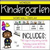 Wonders Kindergarten High Frequency Word Wall Cards & Display